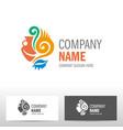 travel logo design with amphora vector image vector image