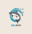 salmon fish icon vector image