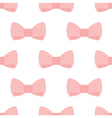 Seamless pattern pink bows on white background vector image