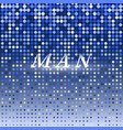 man on blue dot halftone abstract background vector image