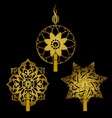 Set of Decorative Ornaments with Tassels vector image