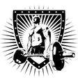igi bodybuilder shield vector image