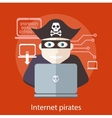 Internet Pirates Concept vector image