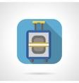 Flat color design luggage icon vector image