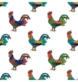 Colorful ornament with roosters vector image