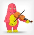 Funny Monster Violinist vector image vector image