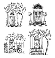 Set of architecture details drawings vector image