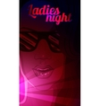 ladies night vector image