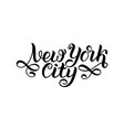 new york city ny logo isolated black nyc label vector image