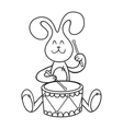rabbit with a drum vector image