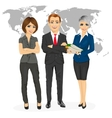 successful professional business team vector image