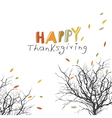 Fallen autumn leaves Tree trunk silhouettes vector image