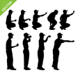 Petanque player silhouettes vector image vector image