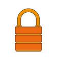 orange padlock isolated vector image
