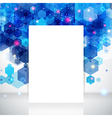 White page layout for Your business presentation vector image
