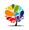 Abstract rainbow tree for your design vector image vector image