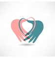 love for others icon vector image vector image