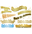 back to school - stickers vector image