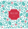christmas holly berries frame seamless pattern vector image vector image