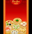 Dim sum menu vector image