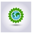Ecology icon green planet vector image