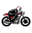 vintage motorbike ride vector image