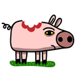 wounded pig vector image vector image
