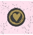 Stylish hand drawn ink heart stamp with ink splash vector image vector image