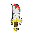 bloody knife comic cartoon character vector image
