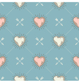 seamless background with hearts and arrows vector image vector image