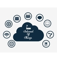 Multimedia icon set Internet of things design vector image