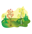 autumn nature vector image