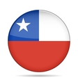 button with flag of Chile vector image