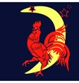The coming year red rooster Chinese Year of the vector image