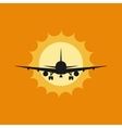 a plane to takeoff or vector image