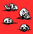 graphic skull set vector image