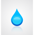 Water drop emblem vector image