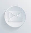 circle icon with a shadow post envelope vector image