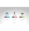 3 choices menu for modern websites vector image