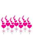 Card pink heart vector image