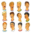 Male faces - Expressions vector image