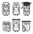 Owl set1 vector image