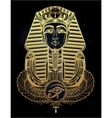 Vintage tattoo pharaoh with winged Ankh vector image