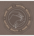 Hands and text Hand Care Natural Beauty vector image