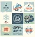 9 Merry Christmas card vector image