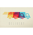 Delivery service truck icon concept color design vector image