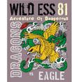 Dragon Eagle vector image