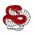 snake character vector image
