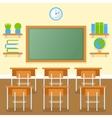 School classroom with chalkboard flat vector image