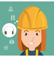 woman worker equipment protection vector image
